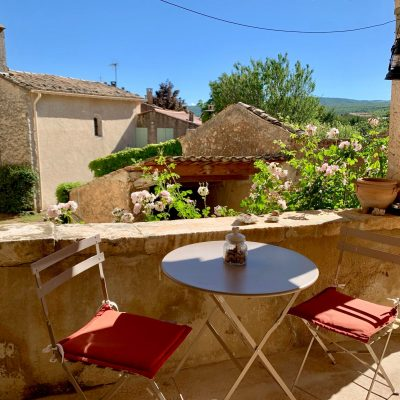 Terrasse sud - Maison authentique Haute Provence - Simiane-la-Rotonde